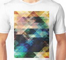 Geometric Textural Colorations Unisex T-Shirt