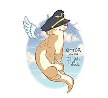 Otter on the Flight Deck Photographic Print
