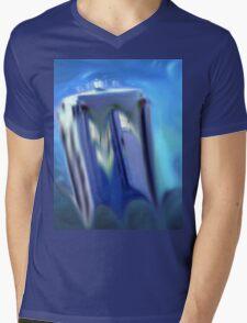 dr, who, tardis, melting, dali, Mens V-Neck T-Shirt