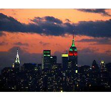 New York City Christmas Photographic Print