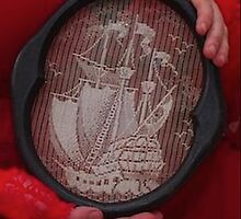 Tall ship needle point  by MermaidMusic