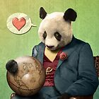Wise Panda: Love Makes the World Go Around! by PETER GROSS