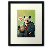 Wise Panda: Love Makes the World Go Around! Framed Print