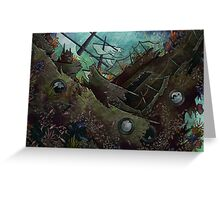 Underwater Shipwreck Greeting Card