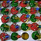 Comic Abstract Christmas Cupcakes by steelwidow