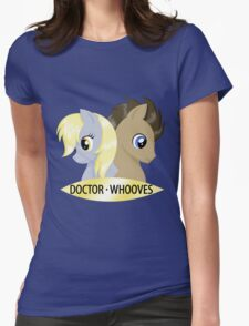 Doctor Whooves & Companion Womens Fitted T-Shirt