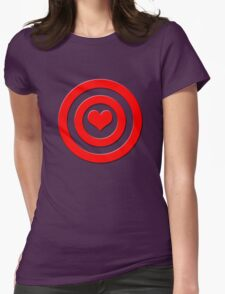 Aim For The Heart Womens Fitted T-Shirt