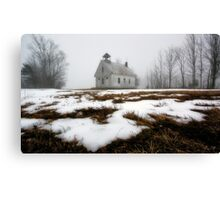One Room Schoolhouse - Harrison,  Maine Canvas Print