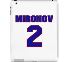 National Hockey player Boris Mironov jersey 2 iPad Case/Skin