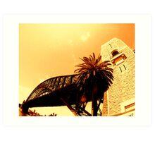 sydney harbour bridge... Art Print