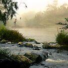 Yarra River, Warrandyte. by Ern Mainka