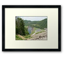SOUTH HOLSTON DAM Framed Print