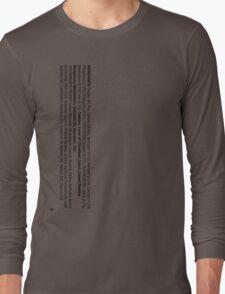 ingredients: (Smoker's version) Long Sleeve T-Shirt