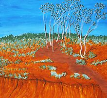PLEIN AIR, RED GULLY by Rose Langford