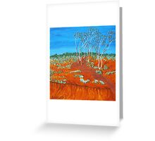 PLEIN AIR, RED GULLY Greeting Card