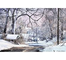 Snowy Day on 5th Street Photographic Print
