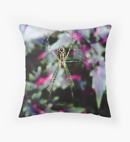 COLOURFUL WORKPLACE Throw Pillow