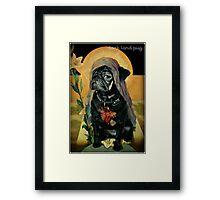 holy black Framed Print