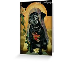 holy black Greeting Card