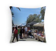 Sidewalk Market Throw Pillow