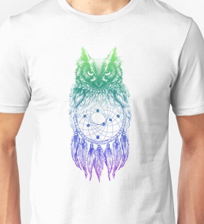 Dreamy Owl_Multi Blue Unisex T-Shirt