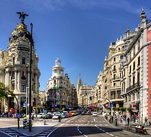 The end of the Calle de Alcalá by Tom Gomez