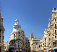 The end of the Calle de Alcalá Sticker