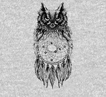 Dreamy Owl_Black Unisex T-Shirt