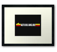 Alto Del Angliru Cycling Shirt Vuelta Espana Framed Print