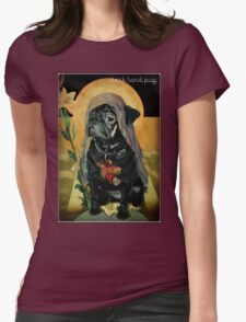 holy black Womens Fitted T-Shirt