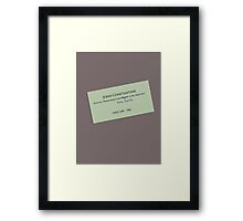John Constantine's Business Card Framed Print
