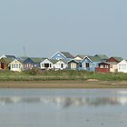 Beach huts in Colour by Vanessa Combes