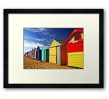 Brighton Beach Huts Framed Print