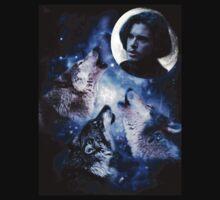 3 Wolf Jon Snow Moon by natfish