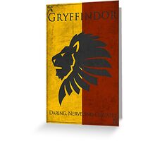 Game of Thrones Banner - Gryffindor Greeting Card