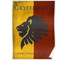Game of Thrones Banner - Gryffindor Poster