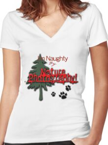 I'm Naughty by Nature Photography! Women's Fitted V-Neck T-Shirt