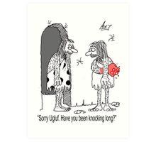 cavemans knock Art Print