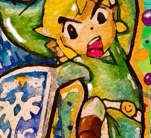 Epic Link Streetart Tshirts + More ' Legend of Zelda ' Sticker