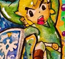Epic Link Streetart Tshirts + More ' Legend of Zelda ' Sticker