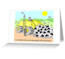 combined sheepdog Greeting Card