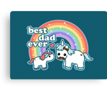 Best Unicorn Dad Canvas Print