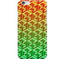 Penrose Cube Stack - Yellow Green iPhone Case/Skin