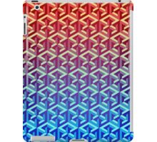 Penrose Cube Stack - Red Blue iPad Case/Skin