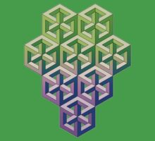 Penrose Cube Stack - Green Purple Kids Clothes