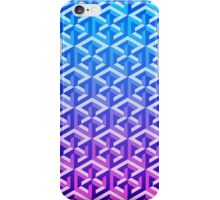 Penrose Cube Stack - Blue Purple iPhone Case/Skin