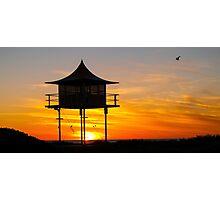 Grange - Sunset Photographic Print