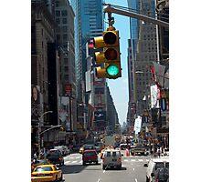 Green Light on Broadway Photographic Print