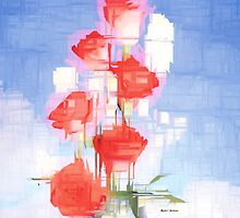 Red and White Flowers by Rafael Salazar