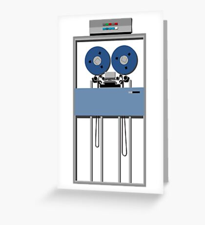 Mainframe Tape Drive Greeting Card